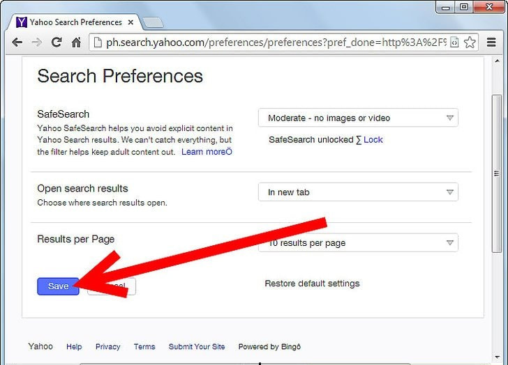 what is safe search preferences in yahoo search