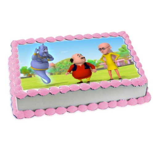 Motu Patlu Birthday Cake Photo 1KG 1099 Free Online Delivery Yummycakein