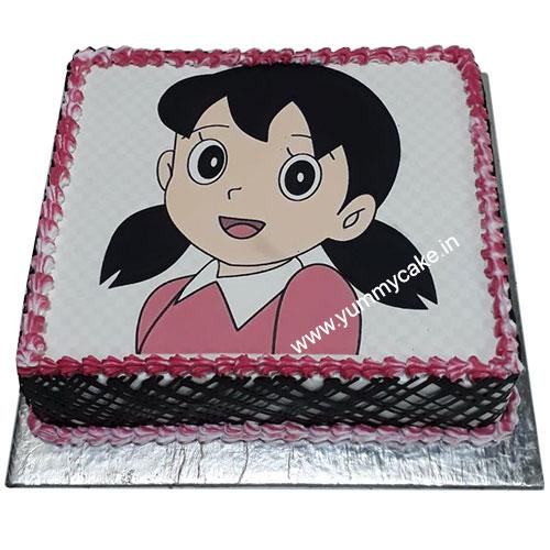 Happy Birthday Cake For Shizuka