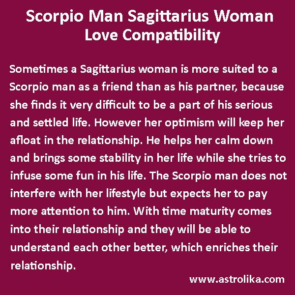 Virgo scorpio man sagittarius woman